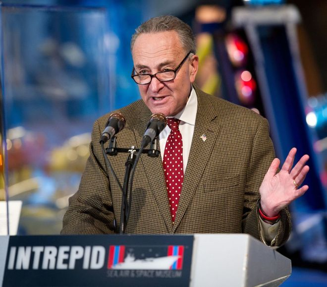 Chuck Schumer (Image Source: Wiki Commons - https://upload.wikimedia.org/wikipedia/commons/thumb/d/df/Charles_Schumer_at_the_Intrepid_Museum.jpg/1166px-Charles_Schumer_at_the_Intrepid_Museum.jpg)