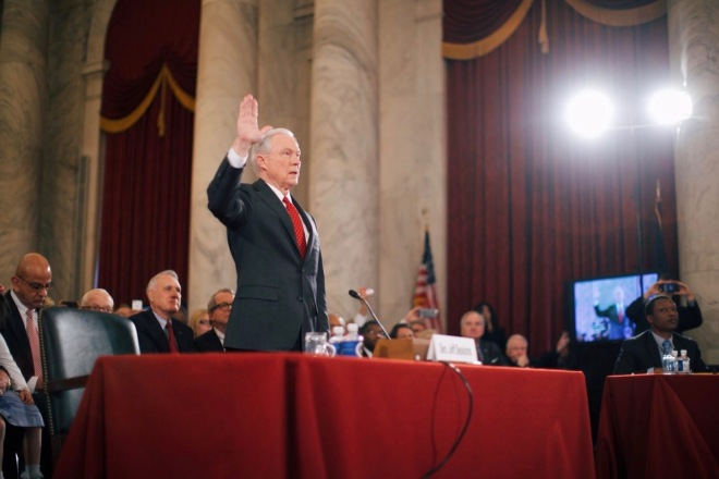 Jeff Sessions being sworn in (Image Source: Wiki Commons)